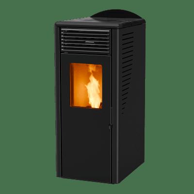 Stufa a Pellet Fusion 10.2 10 kW nero
