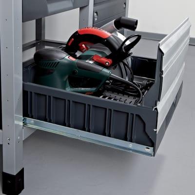 Banco da lavoro 2 cassetti, L113 x H65 x P86 cm, portata 600 kg