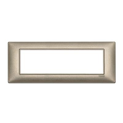 Placca 7 moduli Vimar Plana bronzo metallizzato