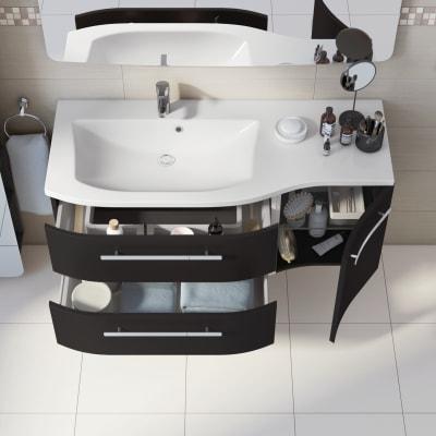 Mobile bagno Contea grigio antracite L 124,8 cm