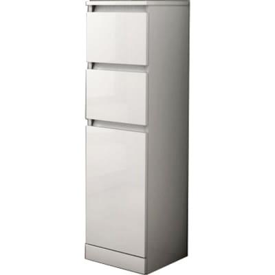 Colonna Elise bianco 1 anta, 2 cassetti L 30 x H 112 x P 33,5 cm