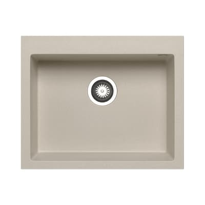 Lavello incasso Voyager beige L 61 x P  50 cm 1 vasca