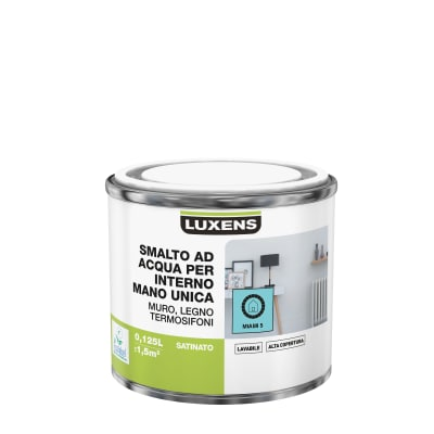 Smalto manounica Luxens all'acqua Blu Miami 5 satinato 0.125 L