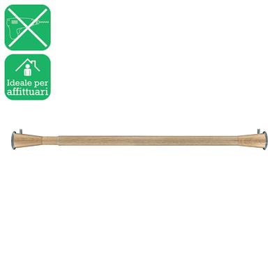 Bastone per tenda con finali estensibile naturale Ø 20 mm L 143 - 250 cm