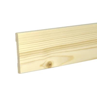 Coprifilo 5 pz abete grezzo naturale 10 x 70 x 2250 mm for Perline abete grezzo