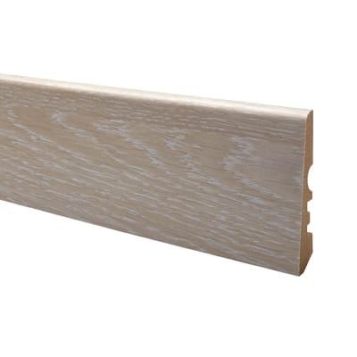 Battiscopa carta finish rivestito rovere sbiancato 15 x 70 x 2400 mm