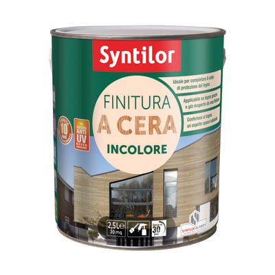 Impregnante ad acqua 10 anni Syntilor incolore cerata 2,5 L
