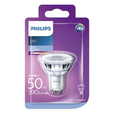Lampadina LED Philips GU10 =50W luce fredda 36°
