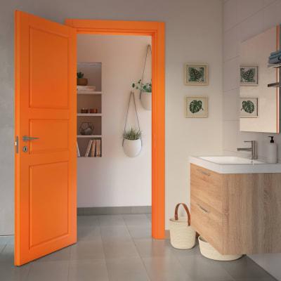 Porta da interno battente New York arancio 90 x H 210 cm sx