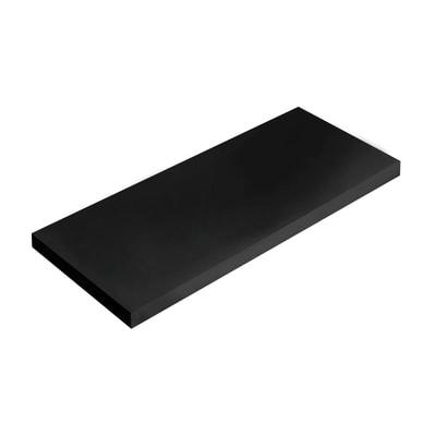 Mensola Spaceo nero L 36 x P 15,5, sp 1,8 cm