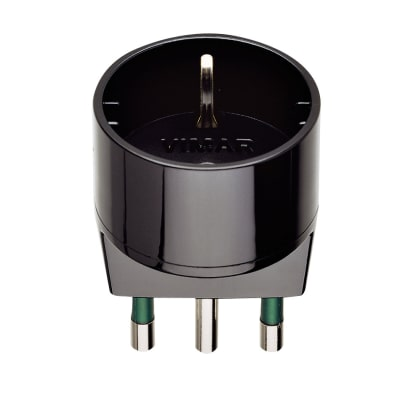 Adattatore RI.00303N S17 + P30 semplice 16A, Vimar nero
