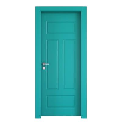 Porta da interno battente Coconut Groove azzurro 90 x H 210 cm dx