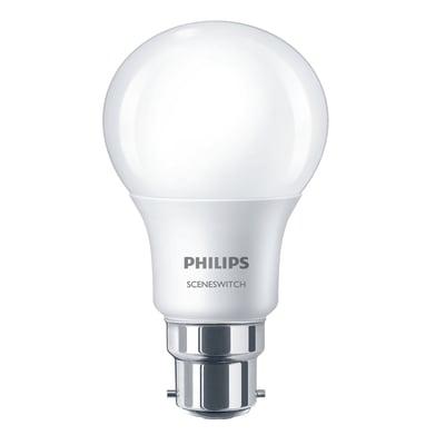 Lampadina LED Philips E27 =60W goccia luce calda 220°