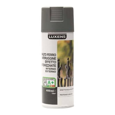 Smalto per ferro antiruggine spray Luxens grigio antichizzato 0,4 L