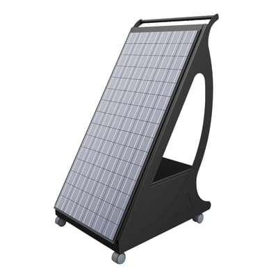 Impianto fotovoltaico portatile Pyppy fai da te 2400 nero 1 kW