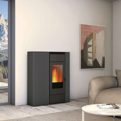 Termostufa a Pellet Superior Terry TH 10,4kw 13,2 kW grigio