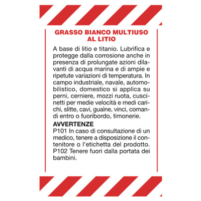 Grasso al litio 500 ml
