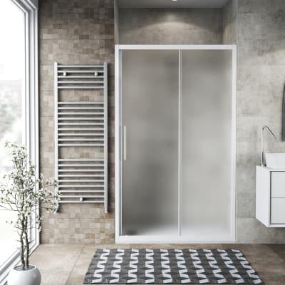 Porta doccia scorrevole Record 122-126, H 195 cm vetro temperato 6 ...