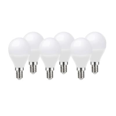 6 lampadine LED Lexman E14 =60W sfera luce calda 220°