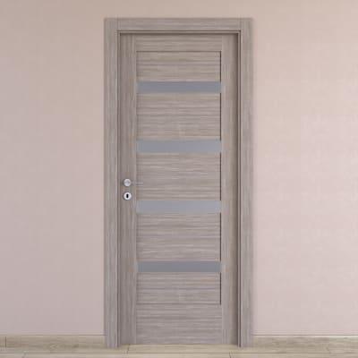 Maniglia per porta con rosetta e bocchetta Marion in acciaio inox
