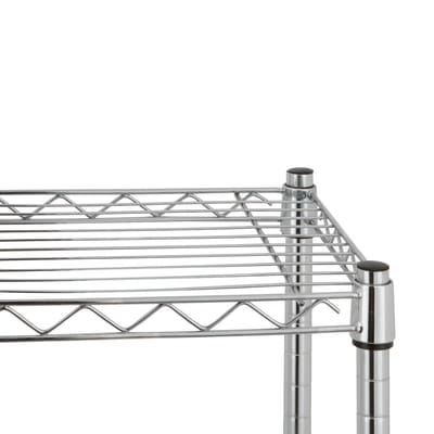 Scaffale in kit Spaceo Chrome Style+ L 90 x P 35 x H 178 cm