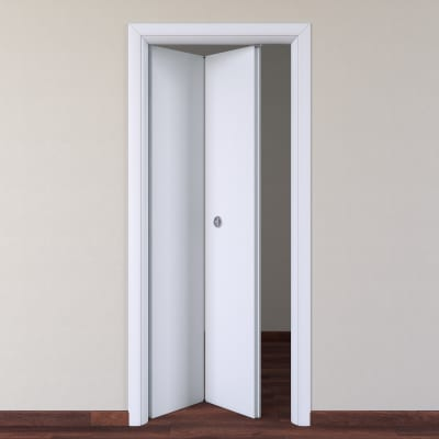 Porta da interno pieghevole Pearl bianco 80 x H 210 cm sx prezzi e ...