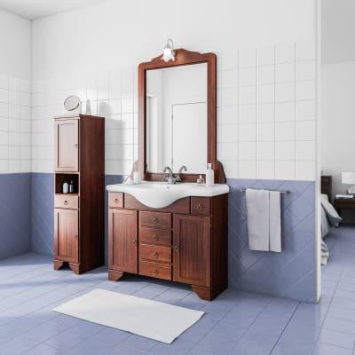 Mobile bagno Laura marrone L 99,5 cm