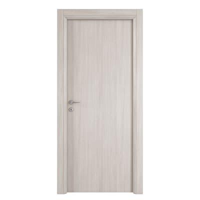 Porta da interno battente Brooklyn frassino bianco 60 x H 210 cm reversibile