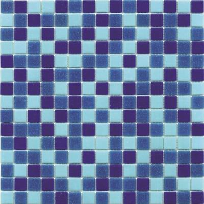 Mosaico classic 32 7 x 32 7 cm blu azzurro prezzi e for Leroy merlin piastrelle mosaico