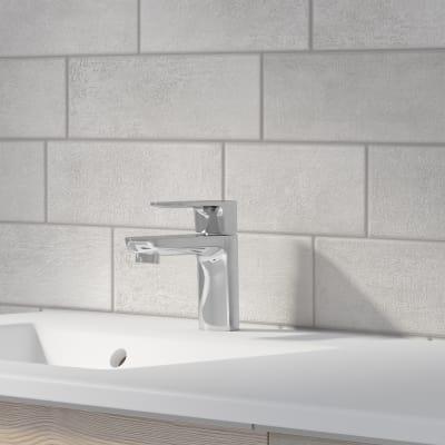 Mobile bagno Neo Frame L 120 x P 48 x H 32 cm 1 cassettone, 1 anta rovere grigio