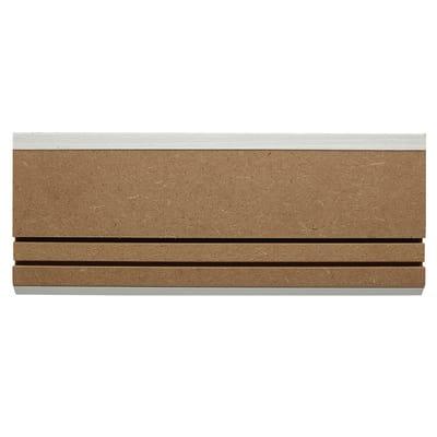 Battiscopa carta finish rivestito bianco 10 x 80 x 2200 mm