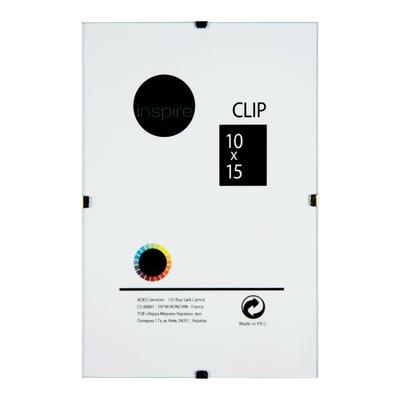 Cornice a giorno Clip Inspire trasparente 10 x 15 cm