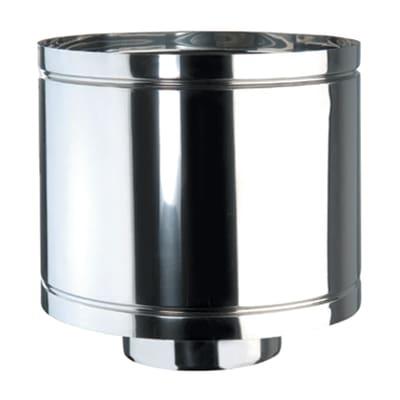 Terminale antivento coibentato acciaio inox AISI 316L