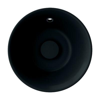 Lavabo da appoggio tondo Capsule ø 38 x 13 cm nero