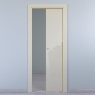 Porta da interno scorrevole Massaua ivory avorio 80 x H 210 cm reversibile