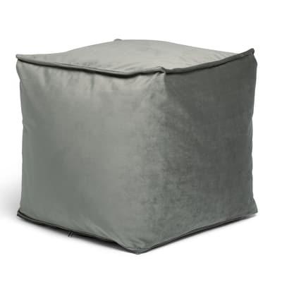 Cuscino pouf Viki grigio 45 x 45 cm