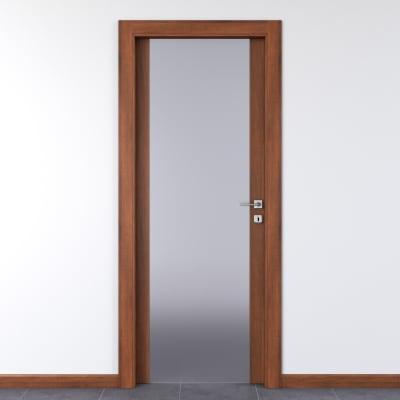 Porta da interno battente Alnitak noce nazionale 80 x H 210 cm sx