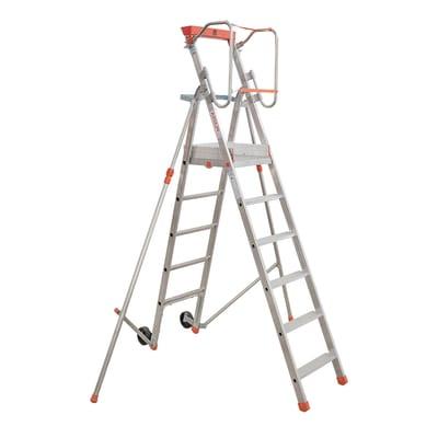Scala doppia alluminio Facal 6 gradini, per lavori fino a 3,4 m
