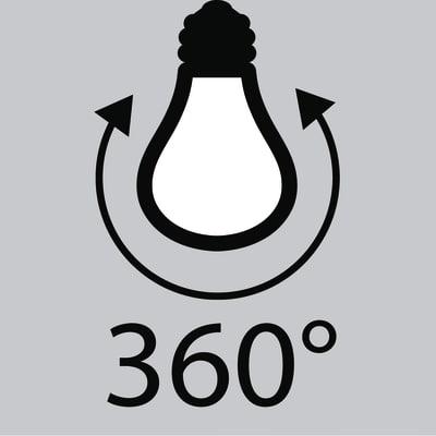 3 lampadine LED Lexman Filamento E27 =60W goccia luce calda 360°