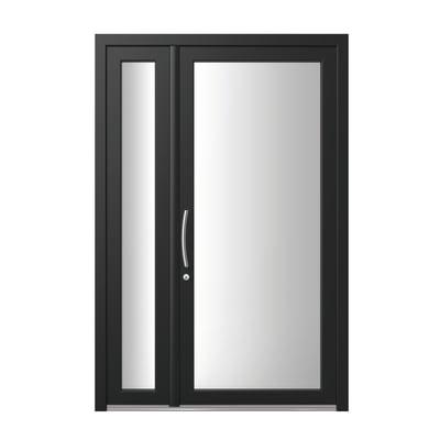 portoncino d'ingresso PVC Condo8 nero L 132 x H 210 dx