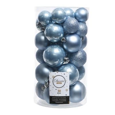 Box sfere azzurre misure assortite