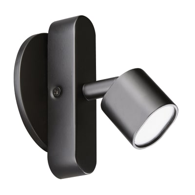 Faretto singolo Inspire Flut nero LED integrato