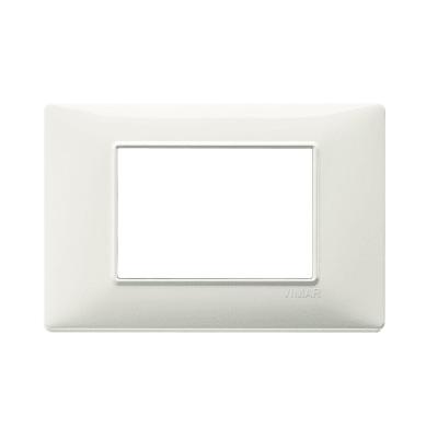 Placca 3 moduli Vimar Plana argento opaco