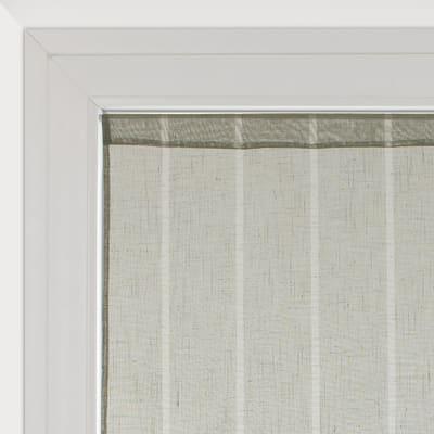 Tendina a vetro per finestra Lippia tortora 60 x 160 cm