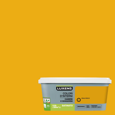 Idropittura superlavabile Smacchiabile Giallo Sole 6 - 2,5 L Luxens