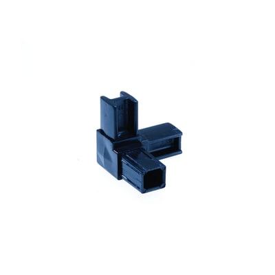 Innesto tubo quadro a 3 vie nero 20 x 20 mm