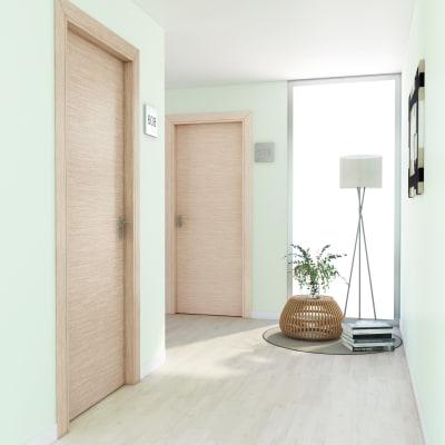 Porta per hotel battente Radisson oak rovere sbiancato 70 x H 210 cm dx