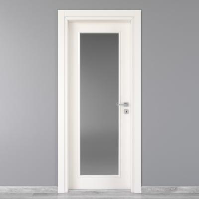 Porta da interno battente Moma Vetro bianco 90 x H 210 cm sx