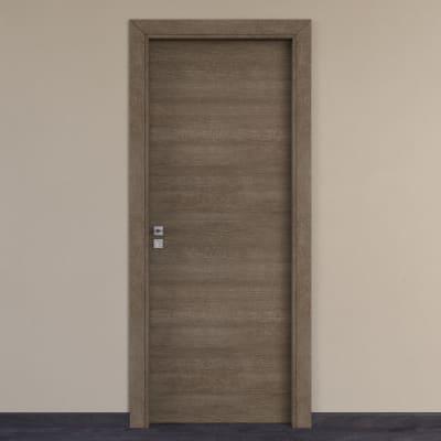 Porta per hotel battente Radisson tabacco 60 x H 210 cm dx