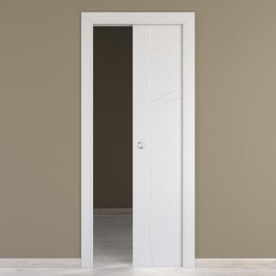Porta Da Interno Scorrevole Wild Bianco 70 X H 210 Cm